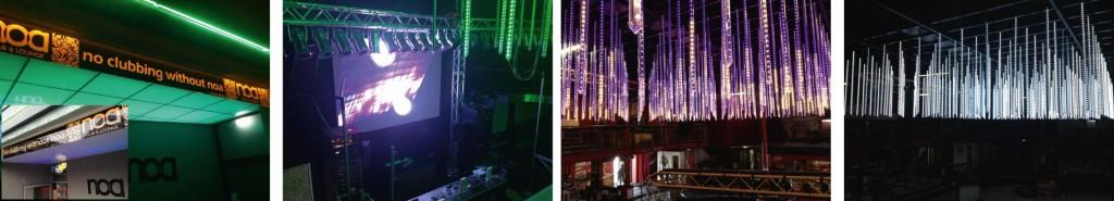 Lichtinstallation und Objektausstattung