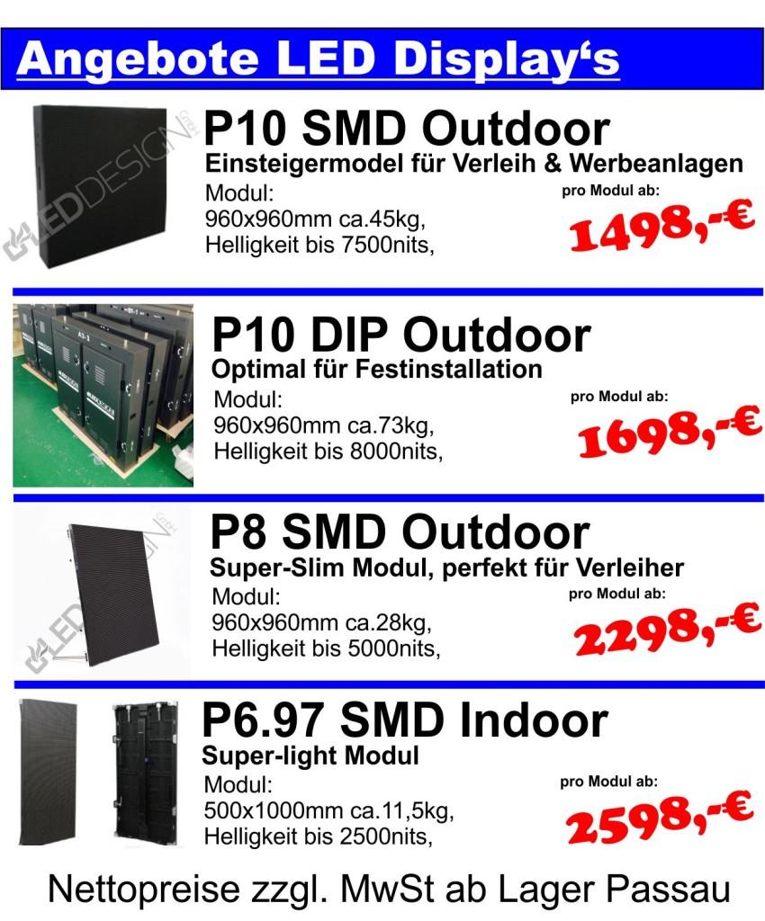 LED Displays-Angebote